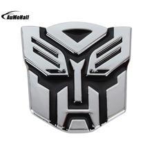 7.2 cm*7.5 cm Car Styling Stereoscopic Aluminum 3D  Car Stickers Car Styling Logo Autobot cool Emblem Badge Graphics Decal