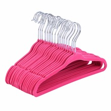 Hot 20pcs Non-Slip Kids Children Child Baby Coat Clothes Hangers Velvet Flocking New(China)