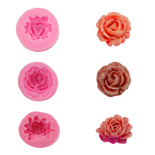Hot Rose Petal - Shaped Silicone Mold Cake Decorated With Soft Sugar Cake Silicone Rose Chocolate Mold Soap Fondant Tools