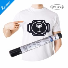 "Hip Hop Q1-1 PU Flex HTV 15""x3' Heat Transfer Vinyl Roll for decorating T-shirt Or Other Fabrics Design your own dog clothes(China)"