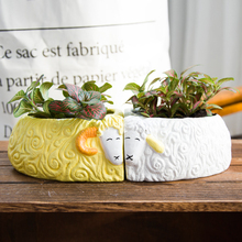 Fleshy sheep pot special offer cartoon lovers succulents simple desktop decoration ceramic pot