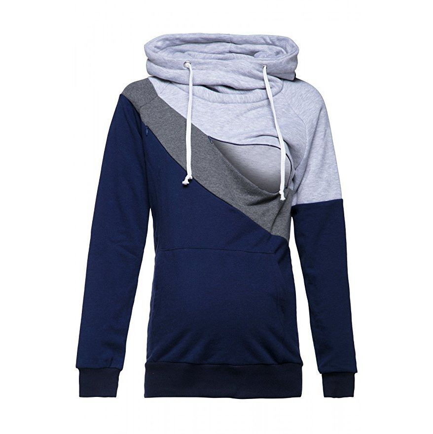 Plus-Size-Pregnancy-Nursing-Long-Sleeves-Maternity-Clothes-Hooded-Breastfeeding-Tops-Patchwork-T-shirt-for-Pregnant (5)