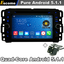 Pure Android 5.1 Car DVD Player For GMC Tahoe GMC Acadia 2007-2012 Chevrolet Express with GPS Car Autoradio Rear View Camera