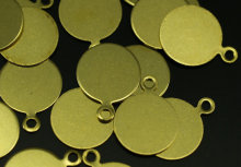 250 pcs Raw brass Tags, (10 mm) brs 91