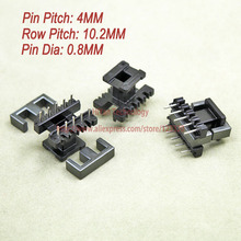 20sets/lot EE19 PC40 Ferrite Magnetic Core and 5 Pins + 5 Pins Top Entry Plastic Bobbin Customize Voltage Transformer