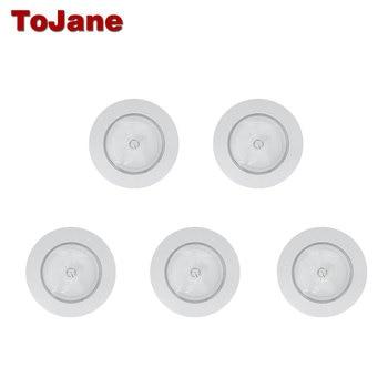 Tojane Led Night Light TG205 Bookcase Showcase Wireless Night Lamp Closet Night Battery Lamp Motion LED Wall Lamp 5 Pieces/Pack