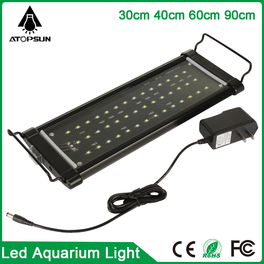 1pcs Led Aquarium Light 30cm 40cm 60cm 90cm white:blue LED light Coral Reef Grow Light High Power Fish Tank Lamp LED Bulb(China (Mainland))
