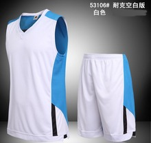hot Mens basketball jersey youth blank basketball jerseys sports breathable basketball shorts vest uniforms suits kits quick dry(China)