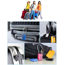 3 Combinations Travel Suitcase Luggage Bag Code Loop Lock Padlock Cabinet Cupboard Drawer Case Coded Lock 9 Colors Available(China)