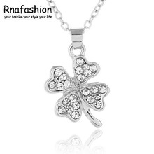 Crystal jewelry factory lucky clover necklace pendant -067