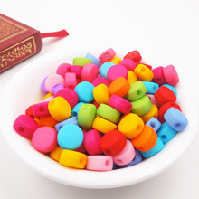 80pcs DIY Acrylic candy color shell beads Round for Making necklace bracelet accessories,  diy beads for kid gift