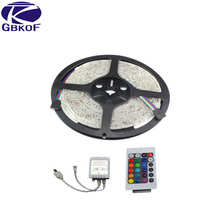 Manufacture 3528 Led Strip Waterproof 60 Leds/m 12v Led Stripe 5m 300 Led RGB White Red Green Blue Yellow,5M/lot ,Free Shipping