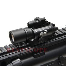 Surefire LED Weapon X400 Tactical Red Laser Sight Handgun Flashlight Weapon Light For Outdoor Hunting(China)