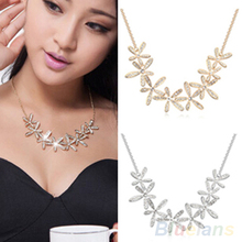 Women's Vintage Full Rhinestone Snowflake Pendant Alloy Choker Chain Statement Necklace 1Q8I(China)