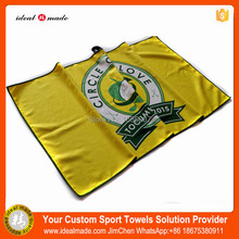 Hight Grade printing Microfibre Towel Fitness Exercise Towel Water Absorption Sweat Uptake Golf Ball Towel 38*61CM