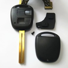 free shipping for Toyota 2 buttons remote control key shell Toy40 for toyota key blank+Plus key keys leather