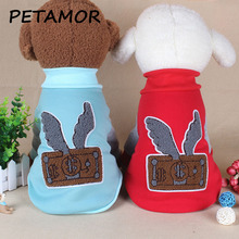 PETAMOR Cute Print Puppy Dog Clothes Pet Dog Hoodies Winter Pets Coat Soft Cotton Dogs Jacket Costume For Pet Dogs Pug PC274(China)