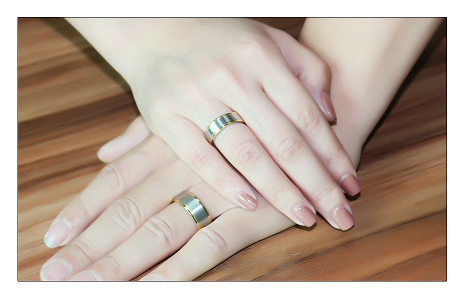 Meaeguet Classic Couple Wedding Rings For Men Women Titanium Steel Lover's Engagement Wedding Bands Alianca De Casamento (4)