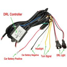 DRL Daytime Running Light Dimmer Dimming Relay Control Switch Harness Car Line 12V On/Off