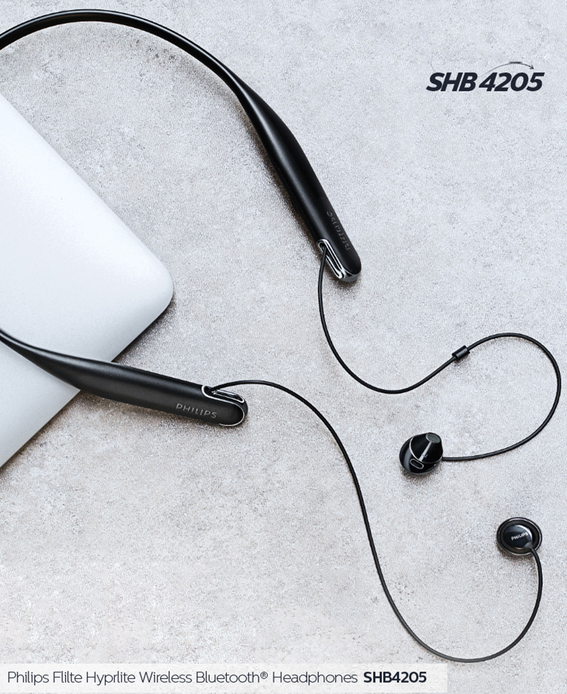 Philips SHB4205 Wireless Headphones/ Bluetooth Earphone/ Neckband Headsets Lithium polymer for Iphone X Iphone 8/8Plus