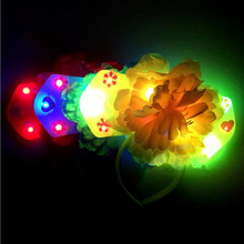 Colorful Flashing Headband Chinese Traditional Princess Head Hoop Kids Party Headwear Hair Accessories
