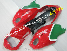 Hot Sales,Green Red For Ducati Fairing 696 796 795 M1000 M1100 2009-2013 Aftermarket Motorcycle Fairings (Injection molding)