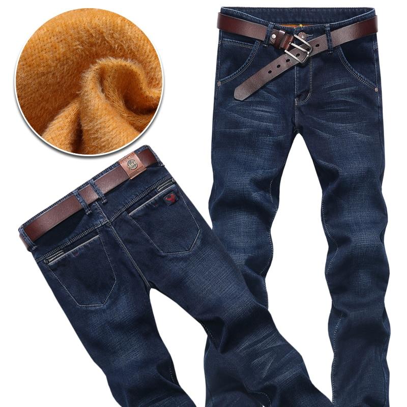 Mens Jean with Velvet Slim Fit Black High Quality Casual Jeans Pencil Pants Fashion Male Free Shipping Brand Trousers Gent LifeÎäåæäà è àêñåññóàðû<br><br>