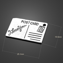 10pcs Hot Sale High quality King Retro Envelopes Charms pendant For Necklace Charm Post Card Charms DIY Jewelry Accessories