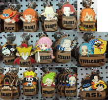 Original Products Anime One Piece Luffy,Nami,Ice,Law,Brook Barrel Type Figures pvc Keychain/Phone Strap Pendant Toys Free