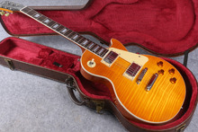in stock 1959 r9 honey burst LP style standard best tiger fire electric guitar free shipping(China)