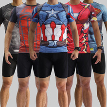 Marvel Heroes Union Clothing Tights T Shirt Iron Man Reactor Superman Spiderman Ultron T Shirt Manufacturers Custom Made