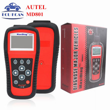 Promotion !! Autel MaxiDiag MD801 4 in 1 Code Reader Scanner (JP701+EU702+US703+FR704) Multi-Functional MD 801(China)