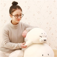 The Seals fish cartoon plush toy doll boutique booth birthday gift to send to girlfriends 40/50cm(China)