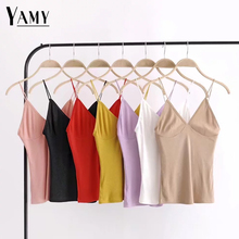 Buy New 2018 summer women tank tops big v-eeck sexy shirt feminist sleeveless blouse casual slim waist shirts womens clothing for $8.74 in AliExpress store