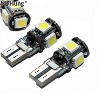 Car LED High Quality Lamp T10 CANBUS 5 SMD 5050 194 W5W 501 5050 5 SMD LED White Car Side Tail Light 20PCS Per Set(China)