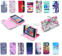 1PCS Luxury PU Leather Case For Nokia Lumia 520 N520 Owls Tower Tiger Flowers Fashion Style Flip Wallet Cover Cases