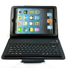 Popular Wireless Bluetooth Keyboard Black with Soft Stand Leather Case Cover For ipad mini Jun27