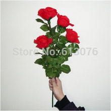 lighting rose Remote Control,4 flowers  - Magic trick,flower magicclose up magic