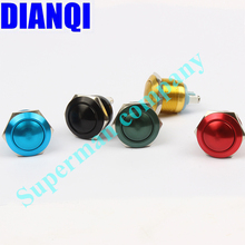 19mm Aluminum oxide black press button switch ball shaped 1NO momentary Car domed waterproof reset Push Button Switch 19QX,F.L