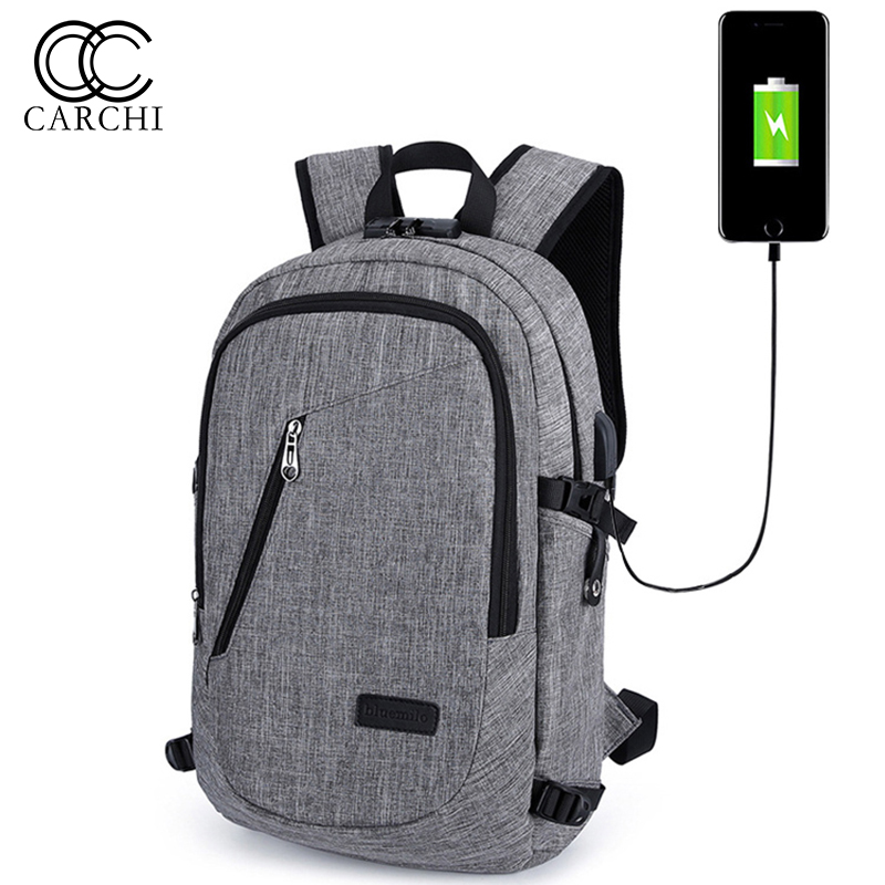 CARCHI New USB Charging Backpacks With Headphone Jack Business Laptop Men Backpack Travel School College Bag Wholesale<br>
