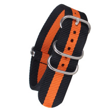 Buy 2 get 20% off) 20 mm 22mm 24mm Cambo Orange Black Army Zulu fabric Nylon watchband Watch Strap 5 Rings Bands Buckle belt