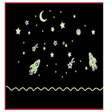 Wall Stickers Cartoon Home Decals Decor Glow In The Dark Wall Sticker Cosmic Star Spaceship wall stickers Spacecraft Luminous