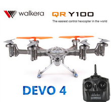 (In stock) Walkera QR Y100 5.8Ghz 6-Axis WIF FPV Drone Helicopter with Camera DEVO 4 Transmitter