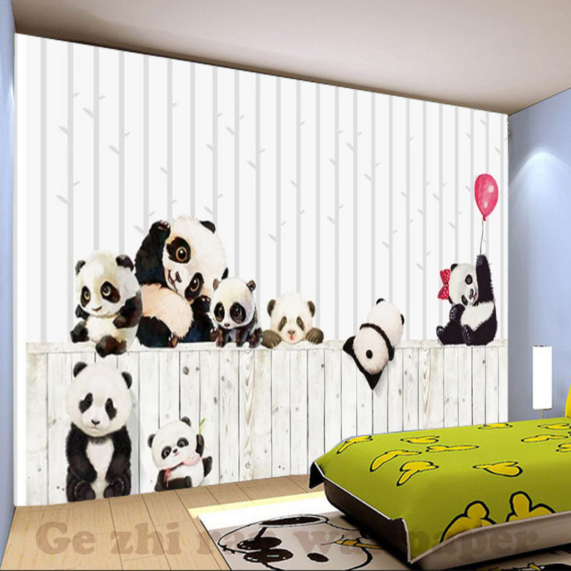 HTB1S1VEhcuYBuNkSmRyq6AA3pXag - Custom 3D Cartoon Lovely Panda Mural Wallpaper For children Room
