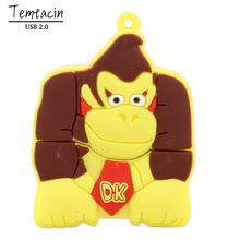 Free Shipping Gorilla Style USB Flash Drive Animal PenDrive Cartoon 8GB 16GB 32GB PenDrives King Kong USB 2.0 Stick USB Creativo(China)