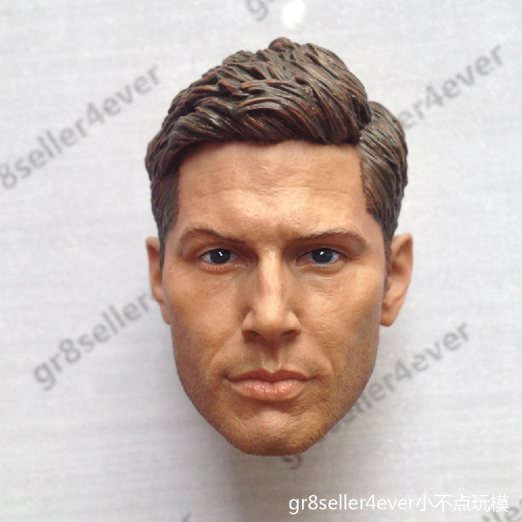 1/6 male Head Sculpt  for 12 Action Figure body  soldier head model toy Supernatural power Dean Winchester Jensen Akers<br>