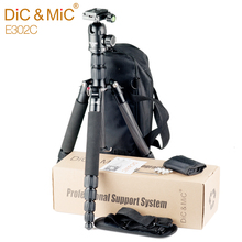 DiC&MiC E302C Carbon Fiber Tripod for Camera / Professional Portable Tripods Monopod for Canon Nikon Sony Camera