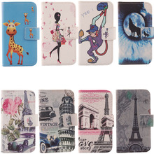New Hot Cartoon Stand Flip Cover Skin Pouch For Acer Liquid Z3 / Z130 1X Optional Painted PU Leather Case Phone Case