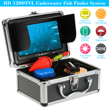 "KKmoon HD 1200TVL Underwater Fish Finder Kit with 7"" LCD Monitor Night View Plug and Play Camera 50M For Ice/Sea/River Fishing"