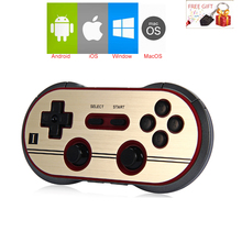 8Bitdo FC30 Pro Wireless Bluetooth Gamepad Controller Dual Classic Joystick for iOS Android Gamepad PC Mac Linux Grey Color